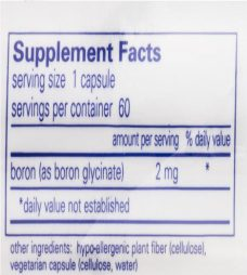 Boron supplement back label