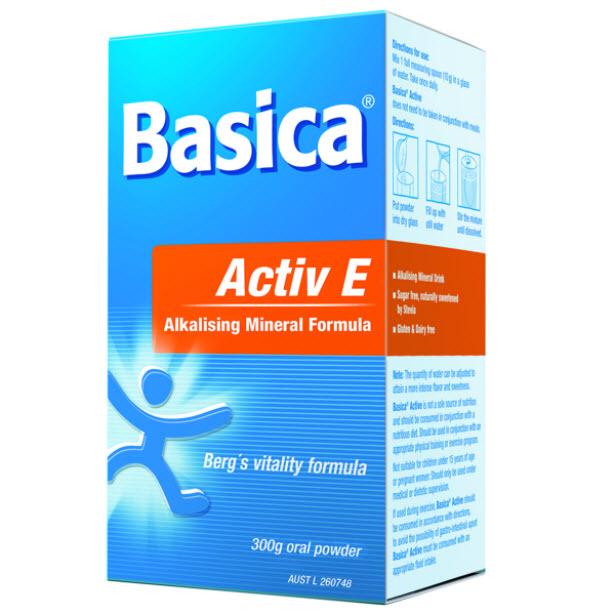 Basica Active E Alkalising Mineral formula 300g Powder