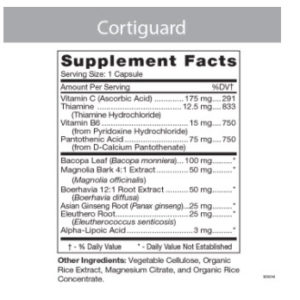 cortiguard supplement facts