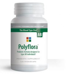 Polyflora AB probiotic formula designed for blood type AB individuals