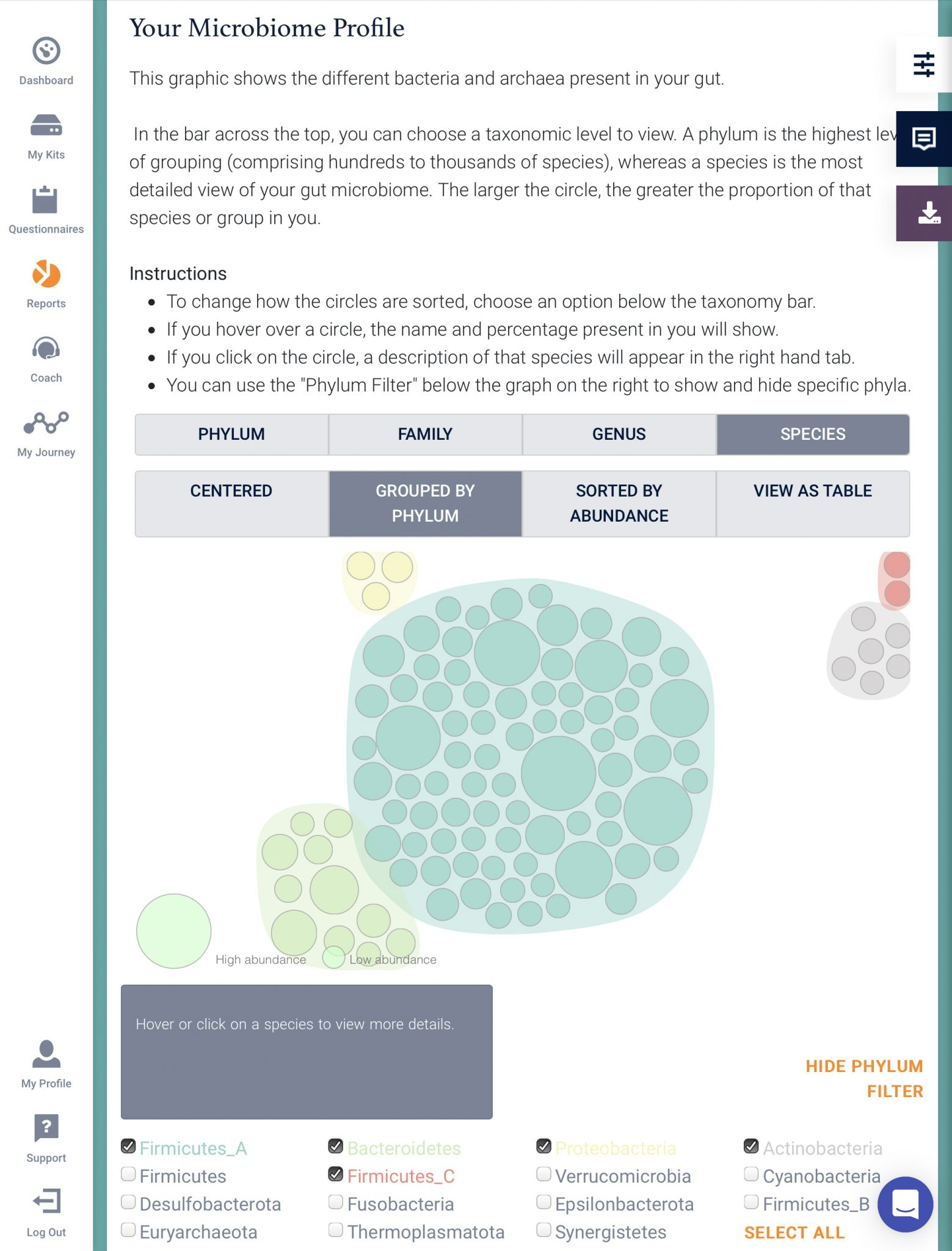 Microbia insight report analysis